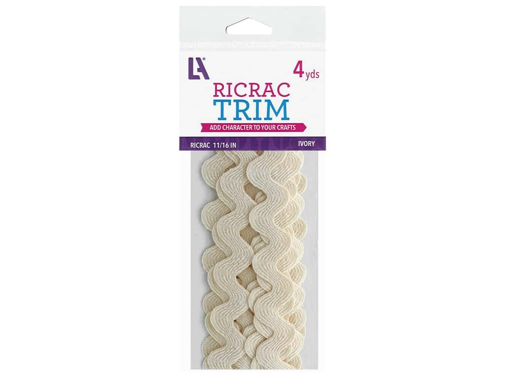 Leisure Arts Ric Rac Trim - 11/16 in. Ivory 4 yd.