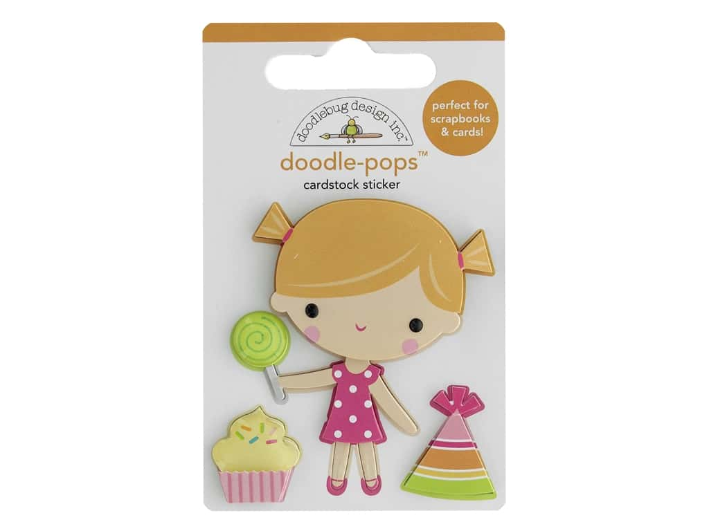 Doodlebug Collection Hey Cupcake Doodle Pops Birthday Girl