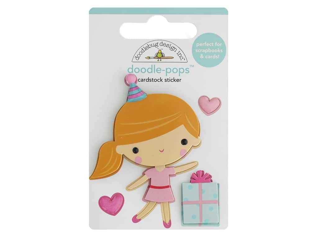 Doodlebug Collection Hey Cupcake Doodle Pops Party Girl
