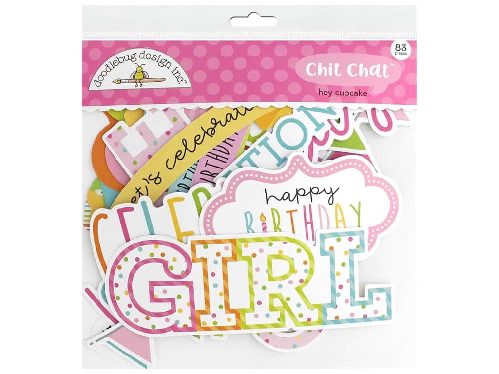 Doodlebug Collection Hey Cupcake Chit Chat