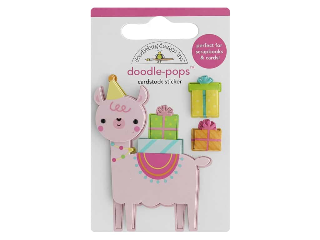 Doodlebug Collection Hey Cupcake Doodle Pops Party Llama