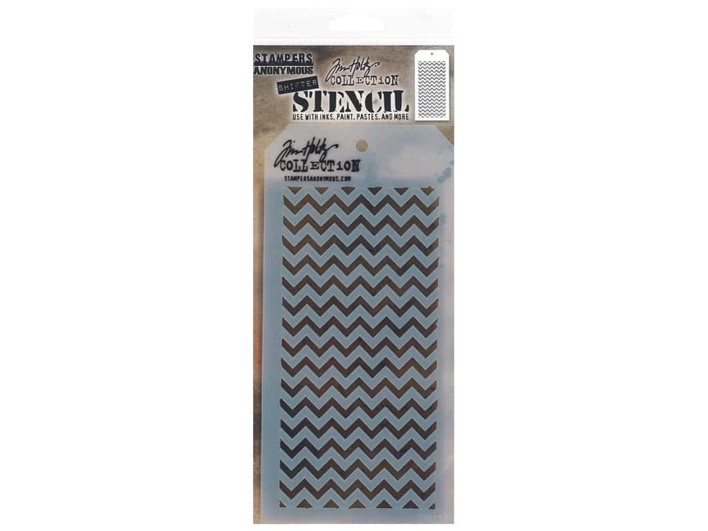 Stampers Anonymous Layering Stencil Tim Holtz Shifter Chevron