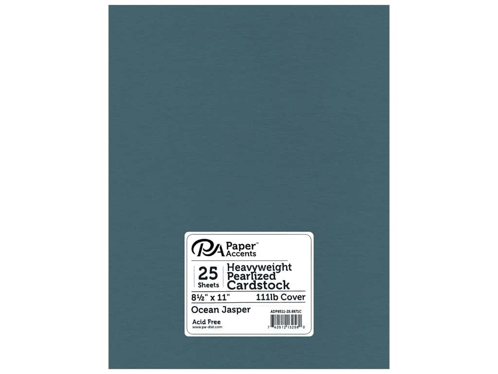 Paper Accents Cardstock 8 1/2 x 11 in. #8871C Pearlized Ocean Jasper 25 pc.