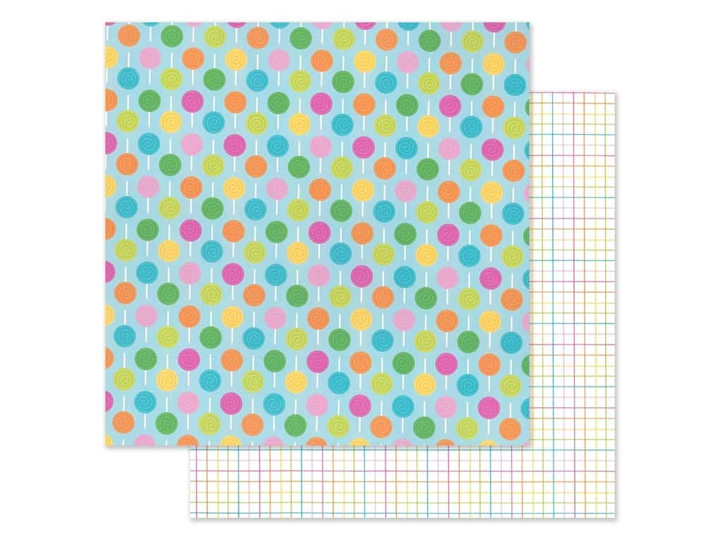 "Doodlebug Collection Hey Cupcake Paper 12""x 12"" Lollies (25 pieces)"