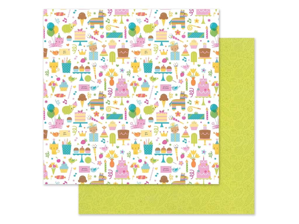 "Doodlebug Collection Hey Cupcake Paper 12""x 12"" Birthday Girl (25 pieces)"
