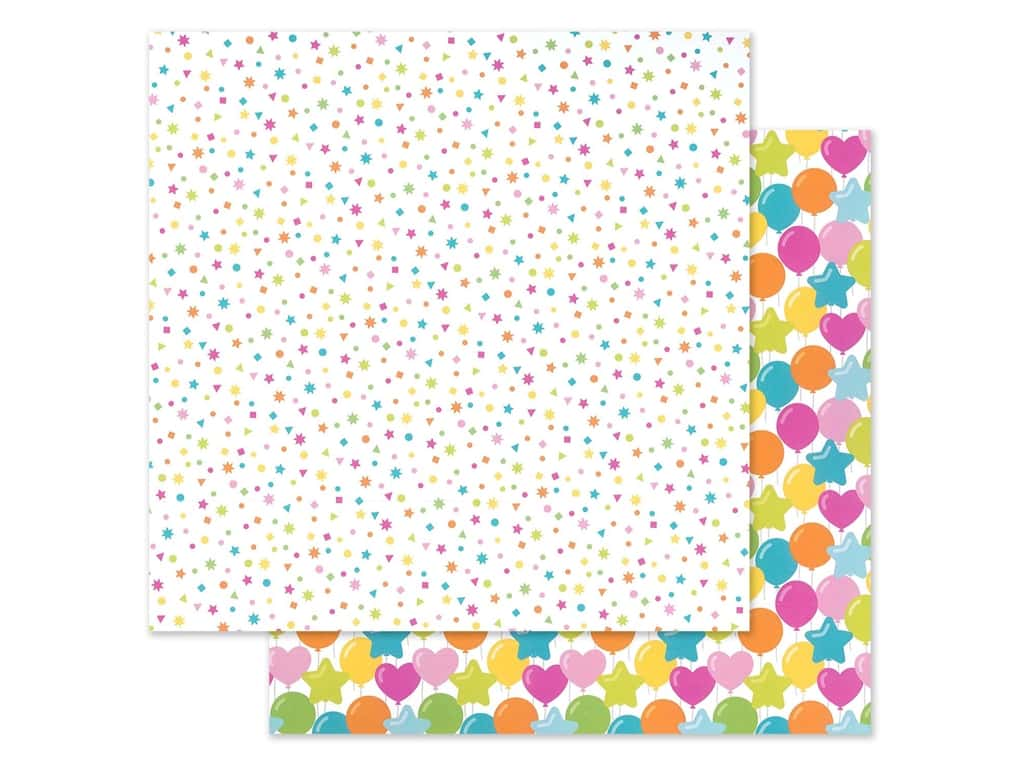 "Doodlebug Collection Hey Cupcake Paper 12""x 12"" Funfetti (25 pieces)"