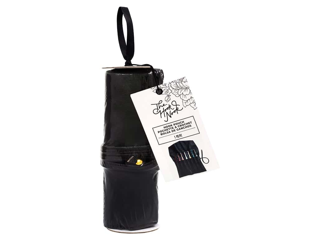 American Crafts The Hook Nook Portable Hook Storage Roll Black