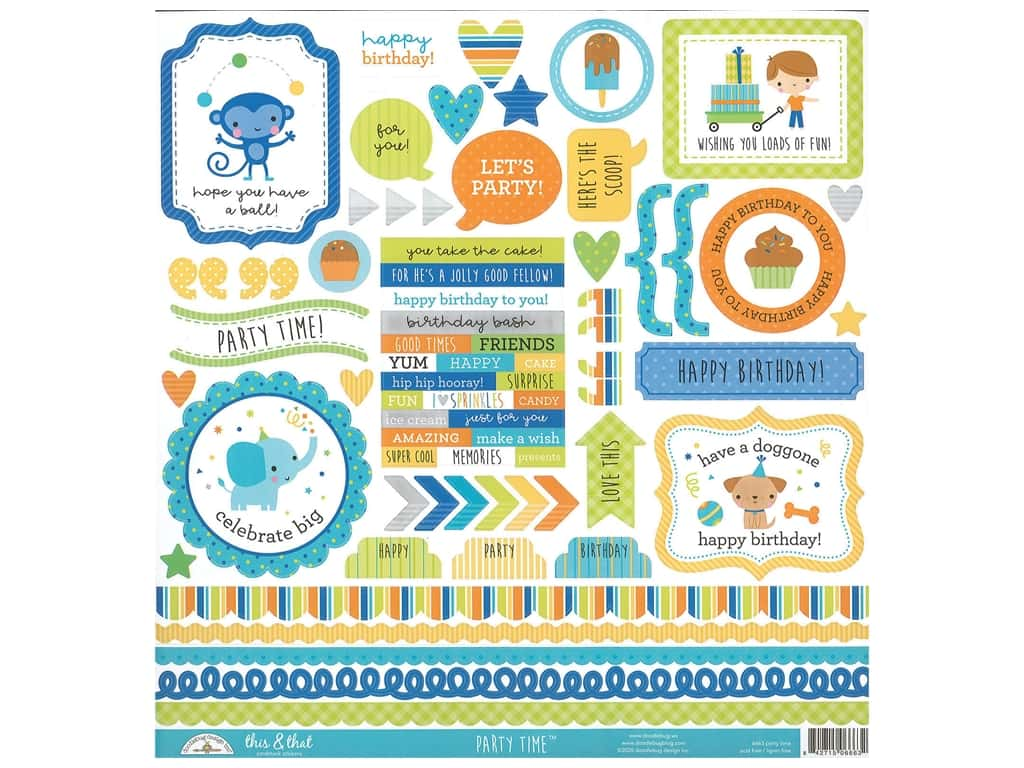 Doodlebug This & That Stickers - Party Time