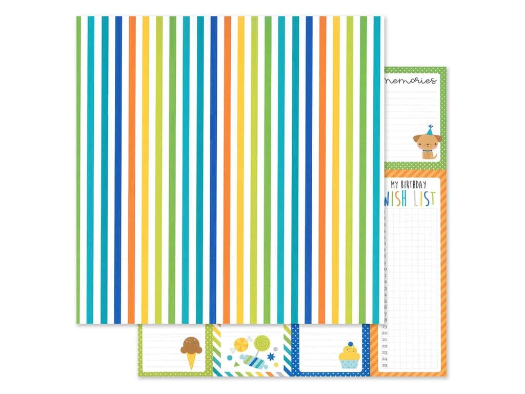 "Doodlebug Party Time Paper 12""x 12"" Wrap It Up (25 pieces)"