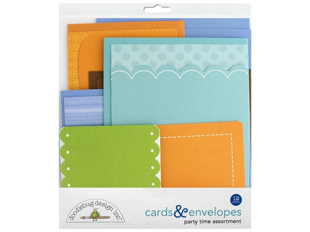 Doodlebug Party Time Cards & Envelopes