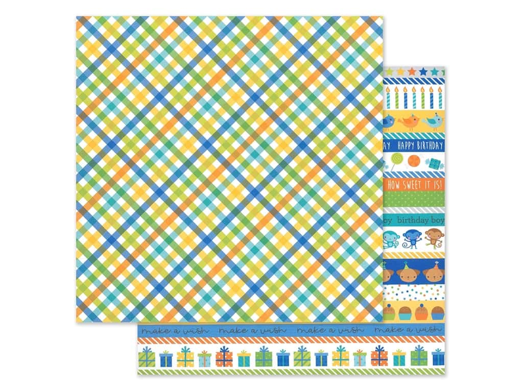 "Doodlebug Party Time Paper 12""x 12"" Party Boy (25 pieces)"