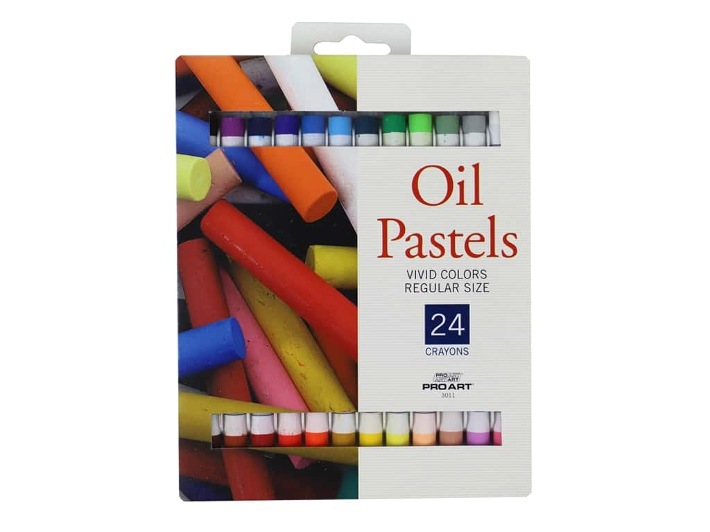 Pro Art Oil Pastel 24 pc. Vivid Colors