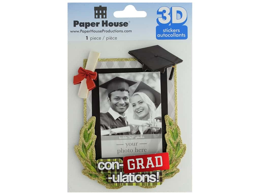 Paper House 3D Stickers - Con-Grad-ulations Keepsake