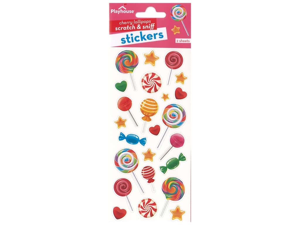 Paper House Sticker Scratch & Sniff Cherry Lollipops