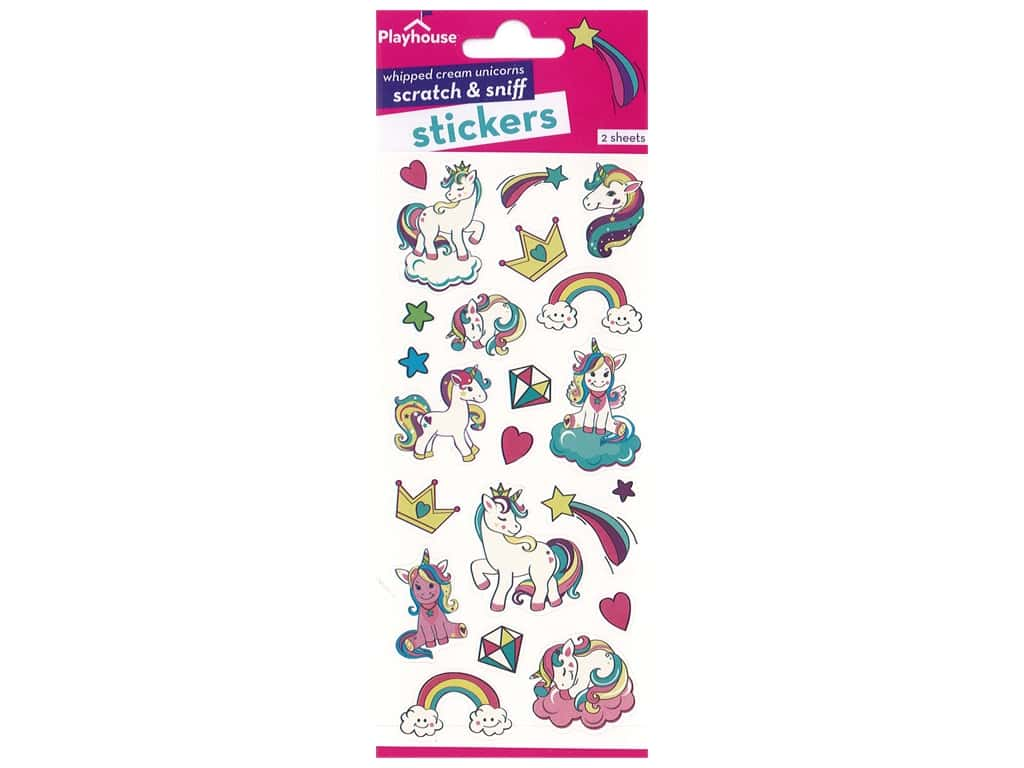 Paper House Sticker Scratch & Sniff Whipped Cream Unicorns