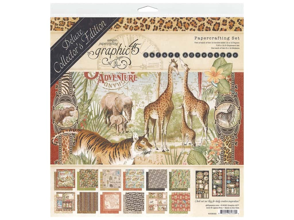 Graphic 45 Deluxe Collectors Edition Safari Adventure