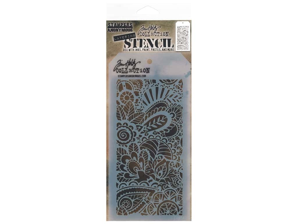Stampers Anonymous Layering Stencil Tim Holtz Doodle Art #1