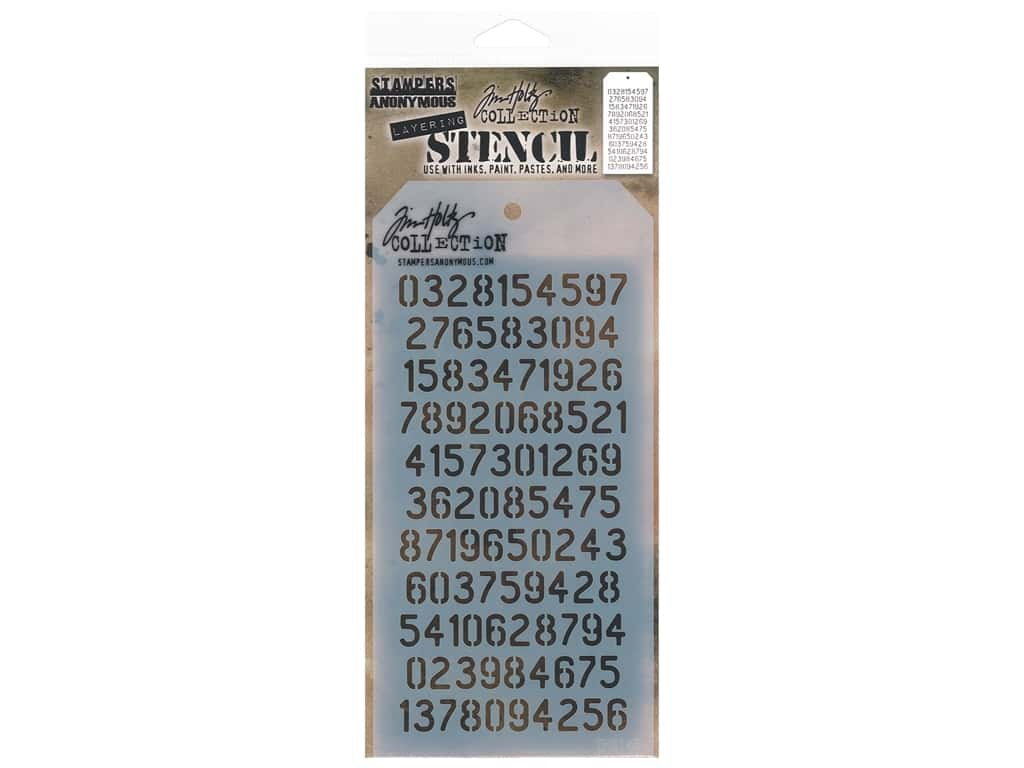 Stampers Anonymous Layering Stencil Tim Holtz Digits