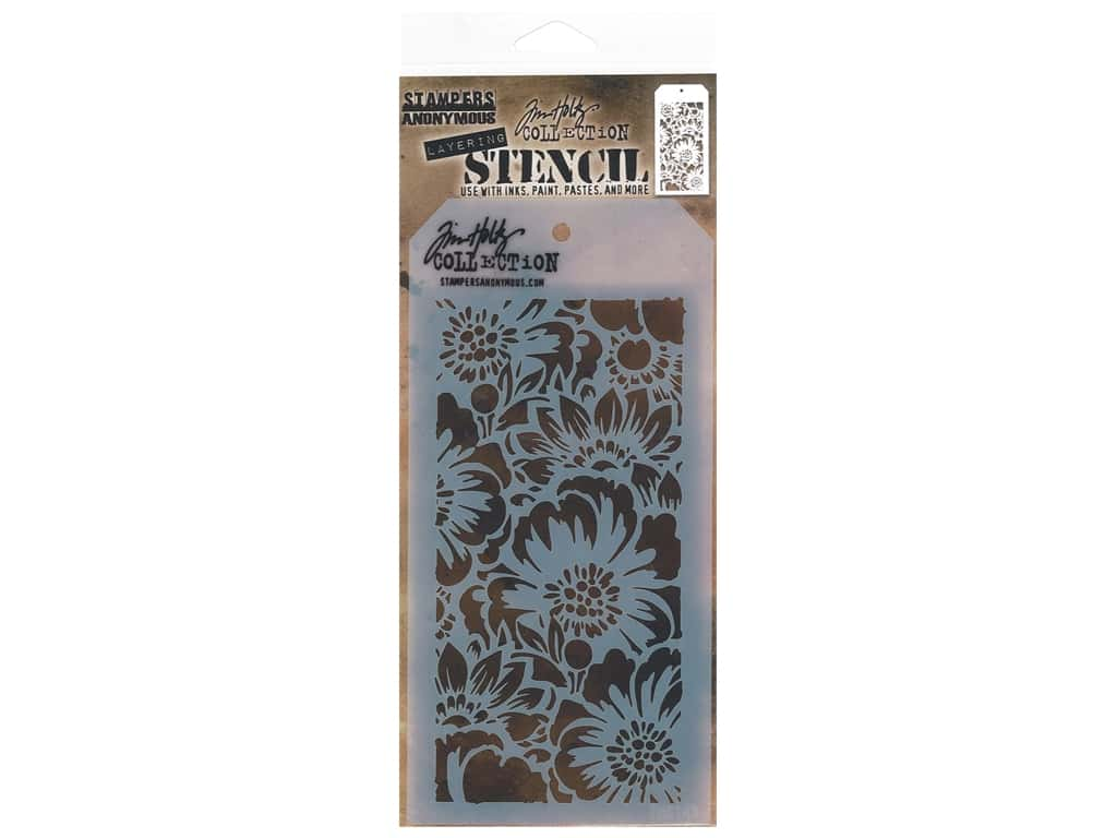 Stampers Anonymous Layering Stencil Tim Holtz Bouquet