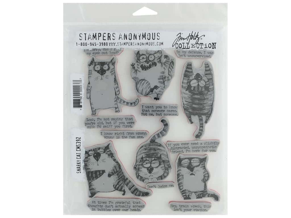Stampers Anonymous Cling Mount Stamp Tim Holtz Snarky Cat