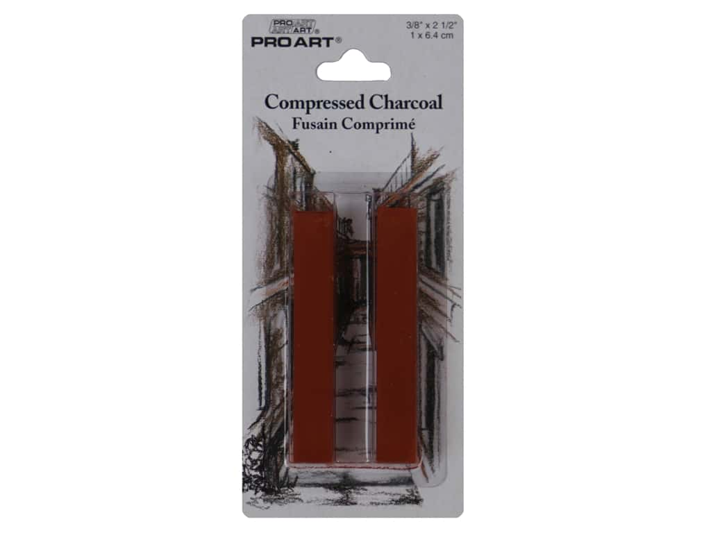 Pro Art Compressed Charcoal Sanguine 2pc
