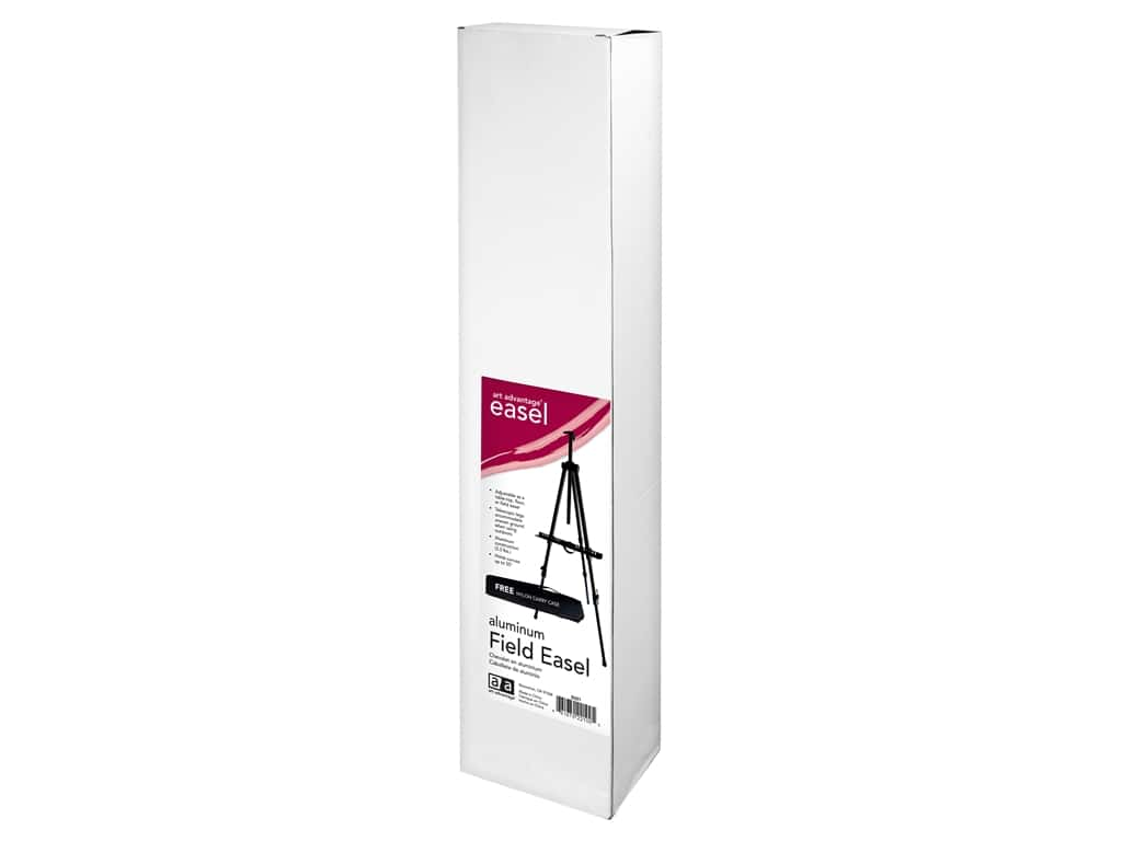 Art Advantage Easel Field With Case Black Aluminum