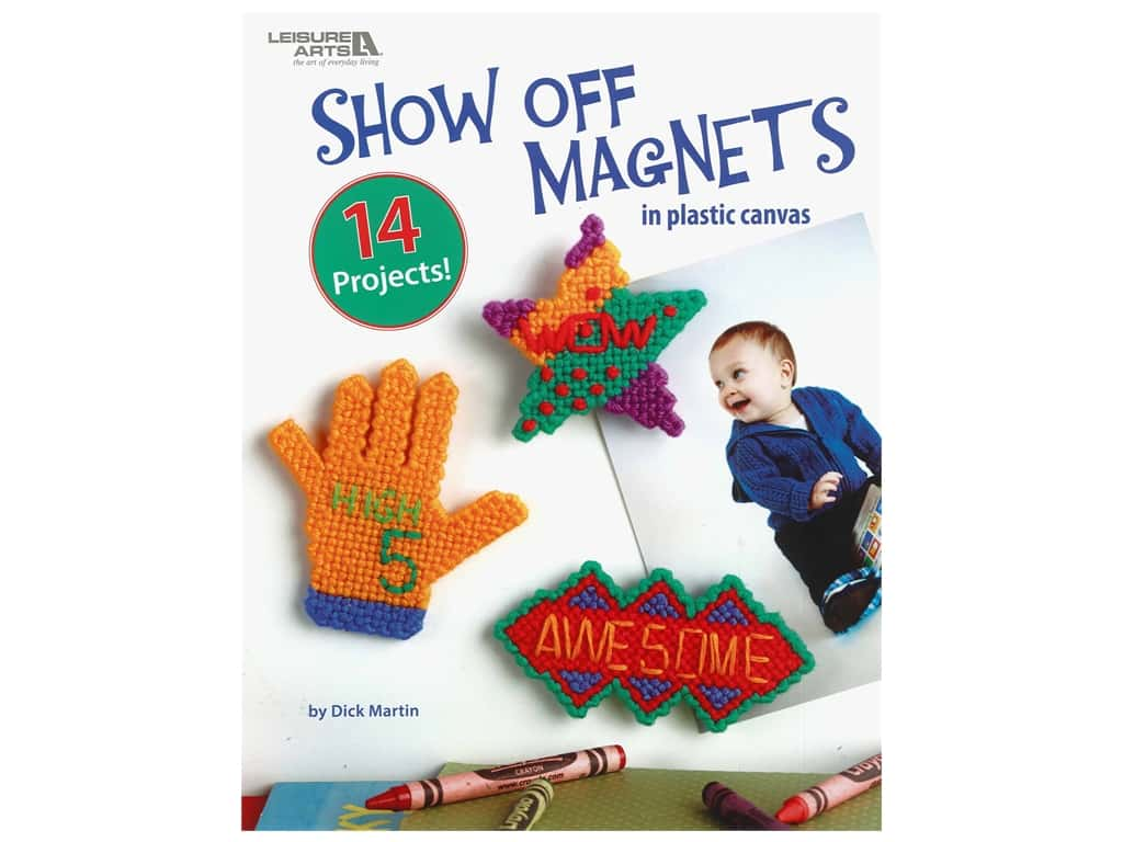 Leisure Arts Show Off Magnets In Plastic Canvas Book