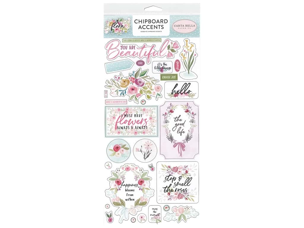"""Carta Bella Collection Flora #3 Chipboard 6""""x 12"""" Accents"""