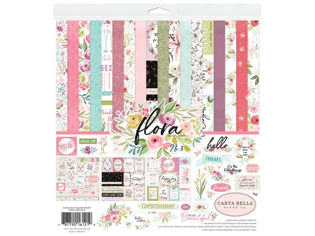 """Carta Bella Collection Flora #3 Collection Kit 12""""x 12"""""""