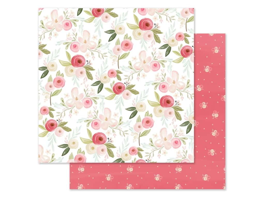 "Carta Bella Collection Flora #3 Paper 12""x 12"" Subtle Large Floral (25 pieces)"