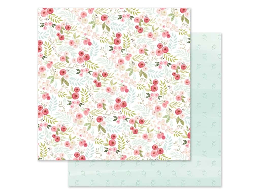 "Carta Bella Collection Flora #3 Paper 12""x 12"" Subtle Small Floral (25 pieces)"