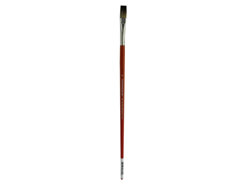 Connoisseur Synthetic Mongoose Brush Long Handle Flat #6