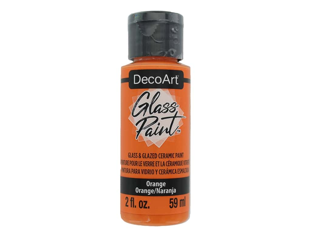 DecoArt Glass Paint 2oz Orange