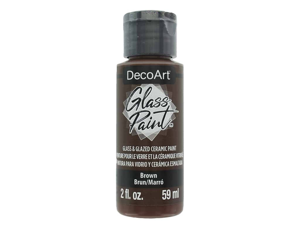 DecoArt Glass Paint 2oz Brown