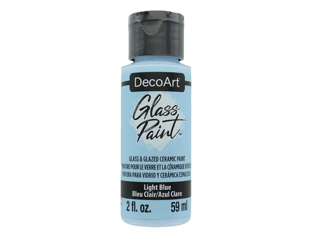 DecoArt Glass Paint 2oz Light Blue