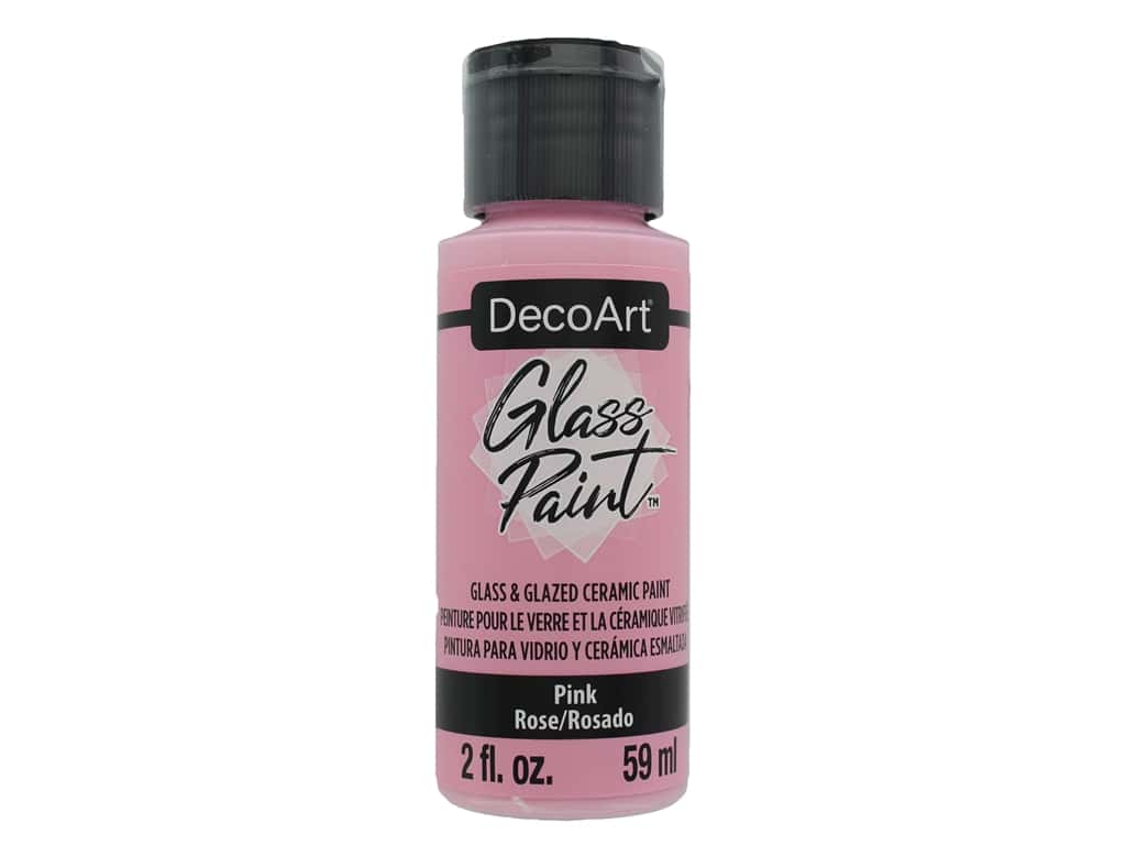 DecoArt Glass Paint 2oz Pink