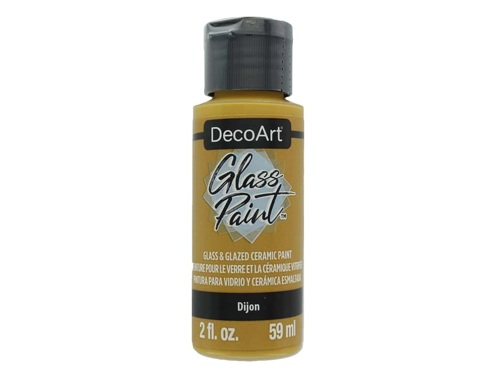 DecoArt Glass Paint 2oz Dijon