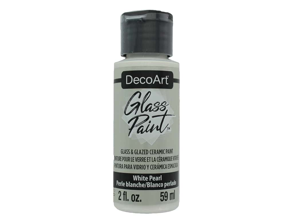 DecoArt Glass Paint 2oz White Pearl