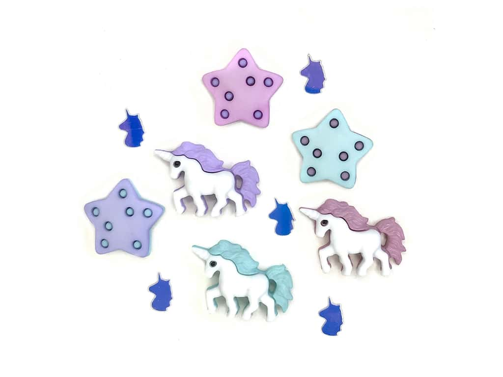 Buttons Galore Theme Button Unicorn Party