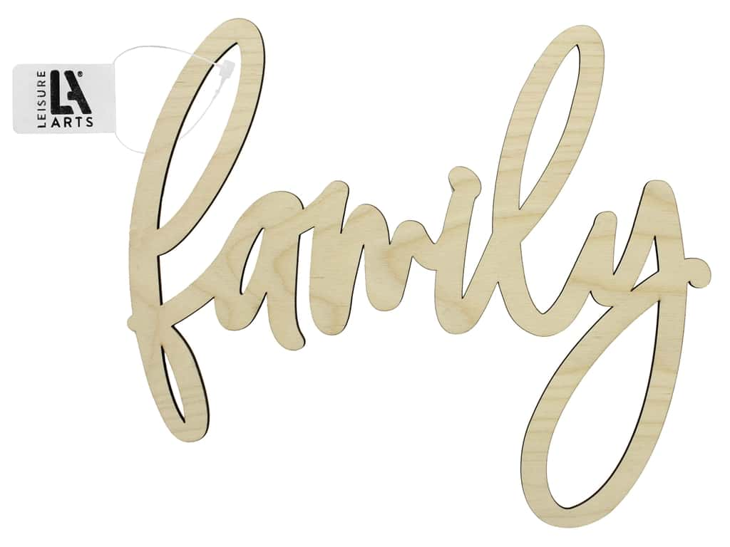 """Leisure Arts Wood Word Large 12""""x 10.75"""" Family"""