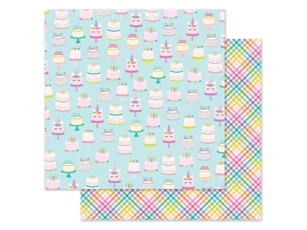 """Simple Stories Magical Birthday Paper 12""""x 12"""" Make A Wish (25 pieces)"""