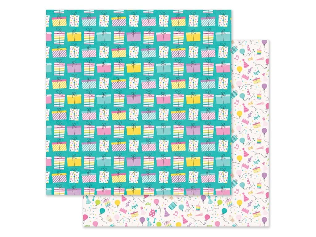 "Simple Stories Magical Birthday Paper 12""x 12"" Surprise! (25 pieces)"
