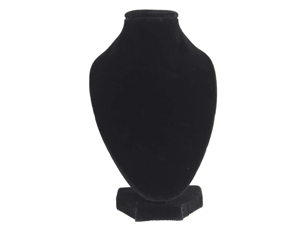 "Darice Jewelry Display Stand 6"" Bust Black Velvet"