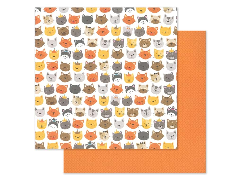 "Bella Blvd Collection Chloe Paper 12""x 12"" Cattitude (25 pieces)"