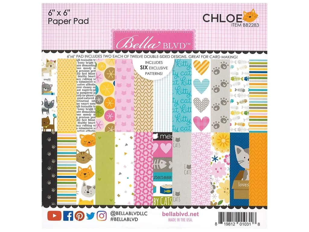 "Bella Blvd Collection Chloe Paper Pad 6""x 6"""