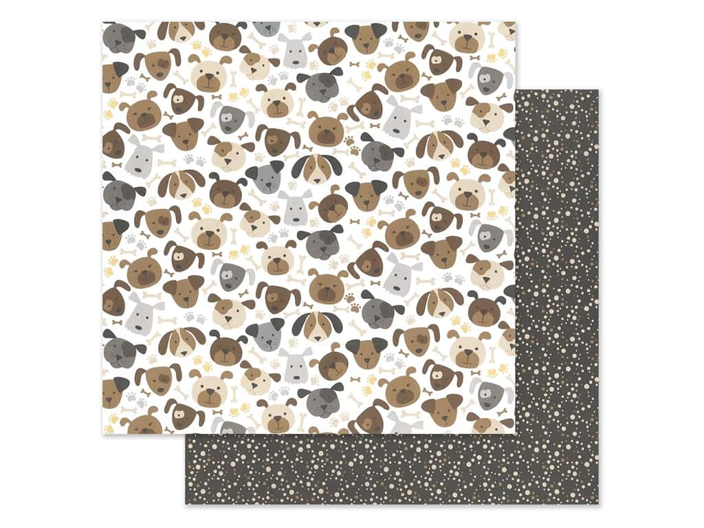 """Bella Blvd Collection Cooper Paper 12""""x 12"""" Puppers (25 pieces)"""