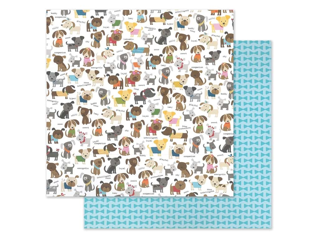 "Bella Blvd Collection Cooper Paper 12""x 12"" Dog Pack (25 pieces)"