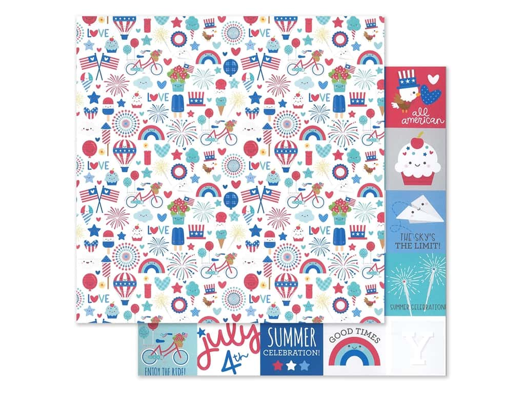 Doodlebug Land That I Love Paper 12 in. x 12 in. Land That I Love (25 sheets)