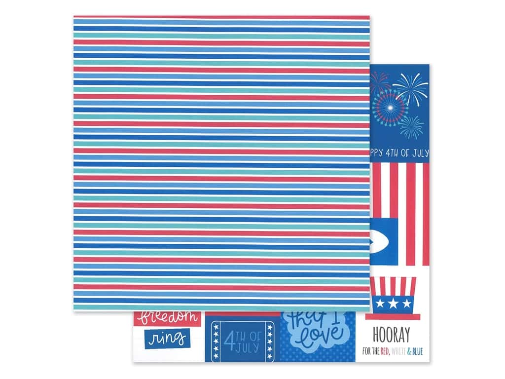 Doodlebug Land That I Love Paper 12 in. x 12 in. Summer Streamers (25 sheets)