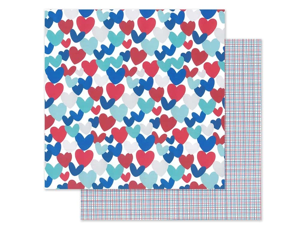 Doodlebug Land That I Love Paper 12 in. x 12 in. America the Beautiful (25 sheets)
